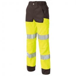 Pantalon LUKLIGHT HV Jaune fluo et gris
