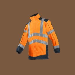 VESTE SOFTSHELL HV DRAYTON Orange fluo et marine