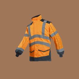 BLOUSON HV ALFORD Orange fluo et marine