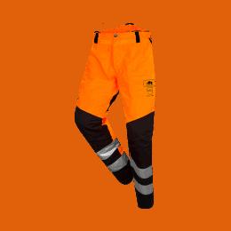BASEPRO PANTALON ANTICOUPURE CLASSE 1 HV Orange Fluo