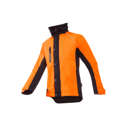 VESTE DE PLUIE KEIU Noir et orange fluo