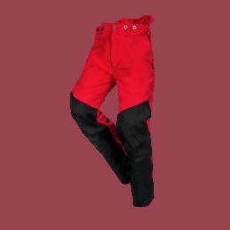 PANTALON ANTICOUPURE FLEX CLASSE 1 TYPE A Rouge et noir
