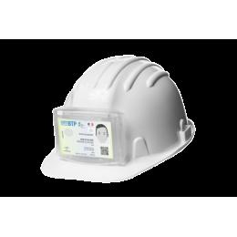 Porte badge pour casques de chantier